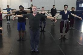 Colin Connor teaches the Limon technique in a dance class