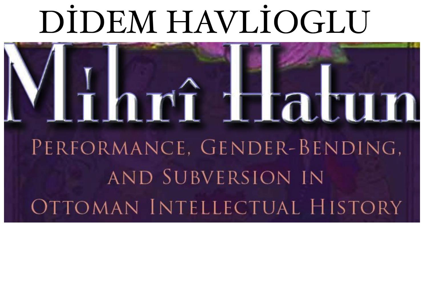 Didem Havlioglu Book Talk