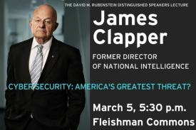 James Clapper to visit Duke on March 5