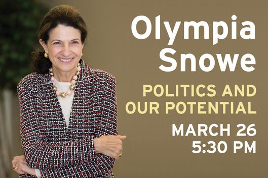 Olympia Snowe to speak at Sanford on March 26