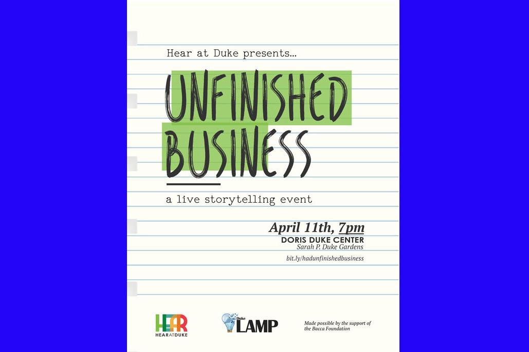 Unfinished Business: A Live Storytelling Event