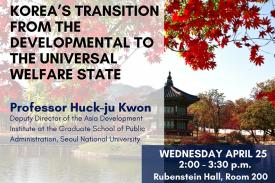 Flyer for talk with Prof. Huck-ju Kwon