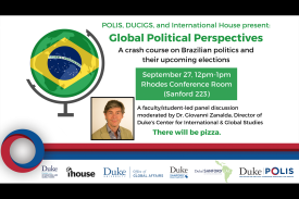 Brazilian Politics event poster