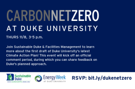Carbon Net Zero at Duke University