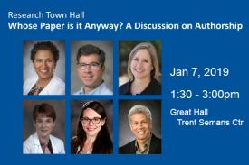 Postcard for January Research Town Hall: Whose Paper is it Anyway? A Discussion on Authorship