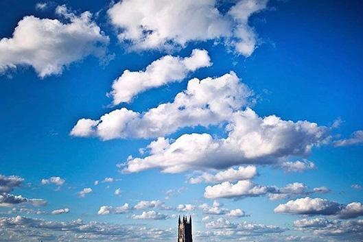 The skyline of the duke chapel