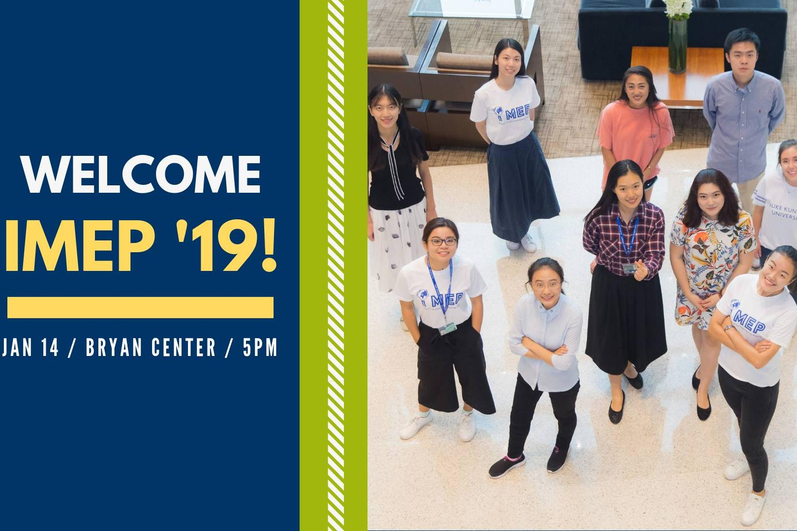 Welcome, iMEP class of 2019