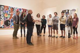Marshall N. Price leads a tour at the Nasher Museum
