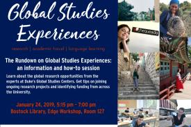 The Rundown on Global Studies Experiences Poster