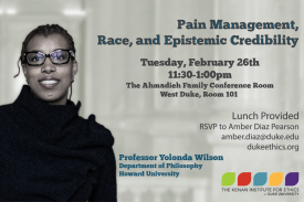 Pain Management, Race, and Epistemic Credibility
