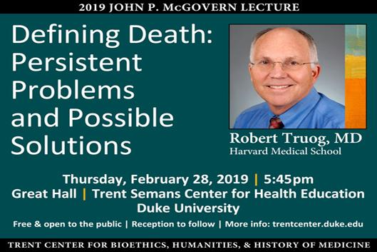 2019 McGovern Lecture Poster
