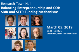 Research Town Hall: Balancing Entrepreneurship and COI: SBIR and STTR Funding Mechanisms