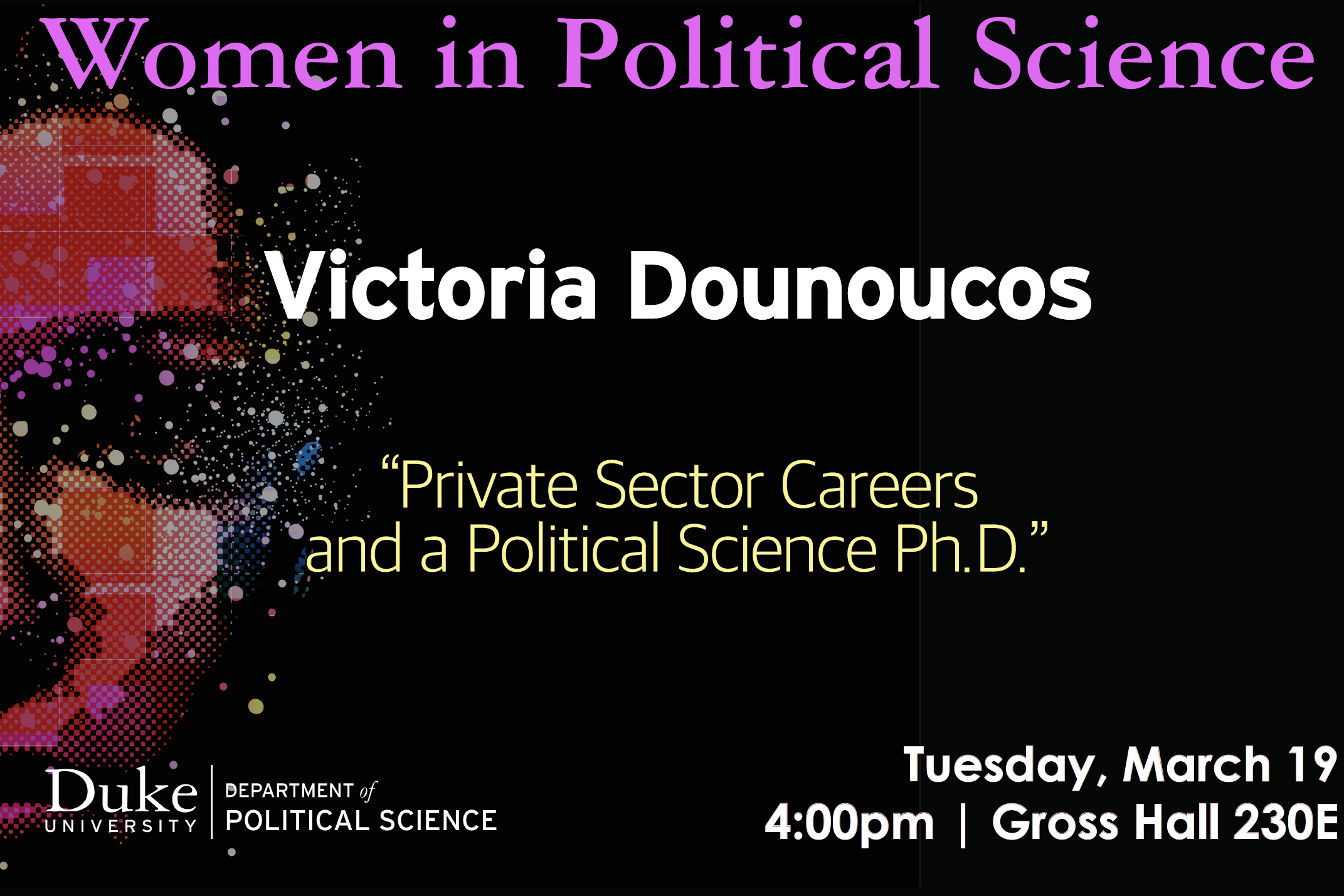 Women in Political Science flyer