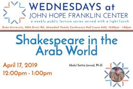 Shakespeare in the Arab World Poster