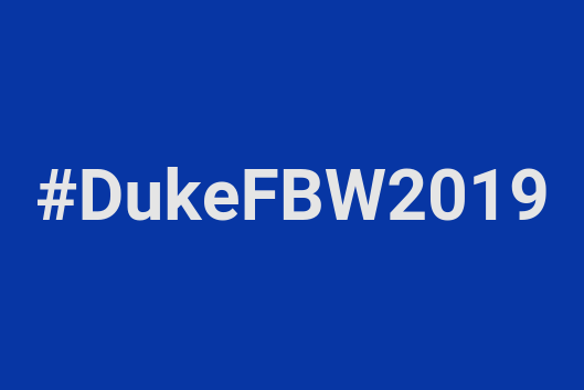 First Big Week 2019 hashtag #DukeFBW2019
