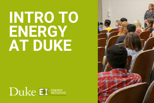 Classroom with students from Intro to Energy at Duke 2018
