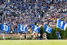 DUKE fans at football game