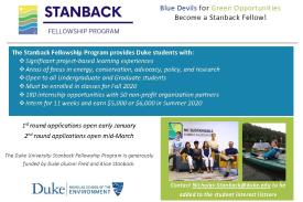 Info Session: Stanback Fellowship Program