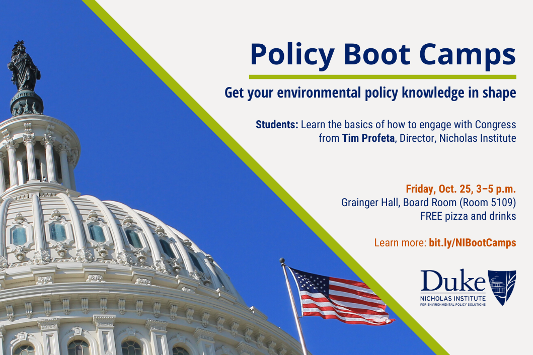 Nicholas Institute Policy Boot Camp - Get your environmental policy knowledge in shape