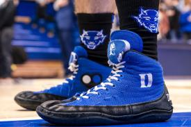 blue devil wrestling shoes
