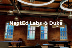 A room at NextEd Labs at the Duke Bullpen