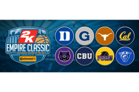 2K Empire Classic Benefiting Wounded Warrior Project with participating team logos