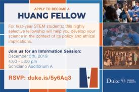Huang Fellows Information Session, 12/05/19