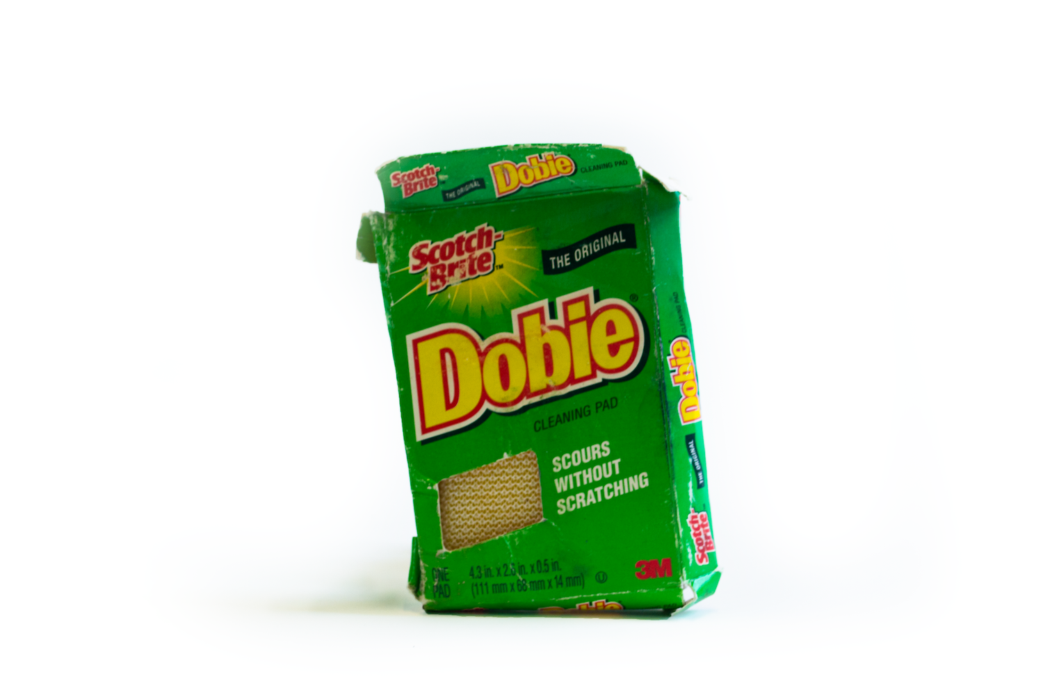 Scotch-Brite Dobie cleaning pad. Project of CDS Graduating Student Sarah Holtz. Photo by Del Agnew.