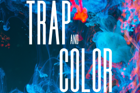 Trap and color with paint in background