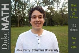 Math Colloquium Alex Perry 1/15 @ 3:15pm