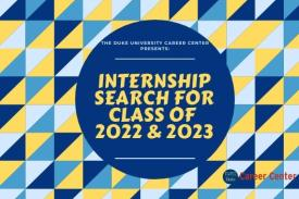 Internship search for class of 2022 and 2023