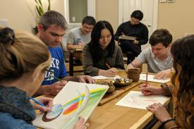 Meditative Art is an opportunity to relax and be creative without the pressure of performing. We invite you to practice mindfulness and experience peace by leaving it all on paper.   No experience necessary and materials will be provided.   This group meets every Tuesday from 6:30PM-7:20PM in the Student Wellness Center Room 148.