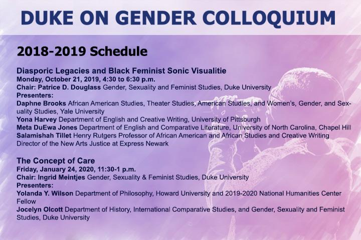 Duke on Gender Colloquium