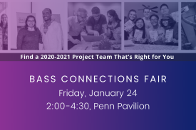 Bass Connections Fair, Jan. 24.