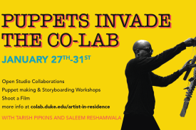 puppets invade the co-lab