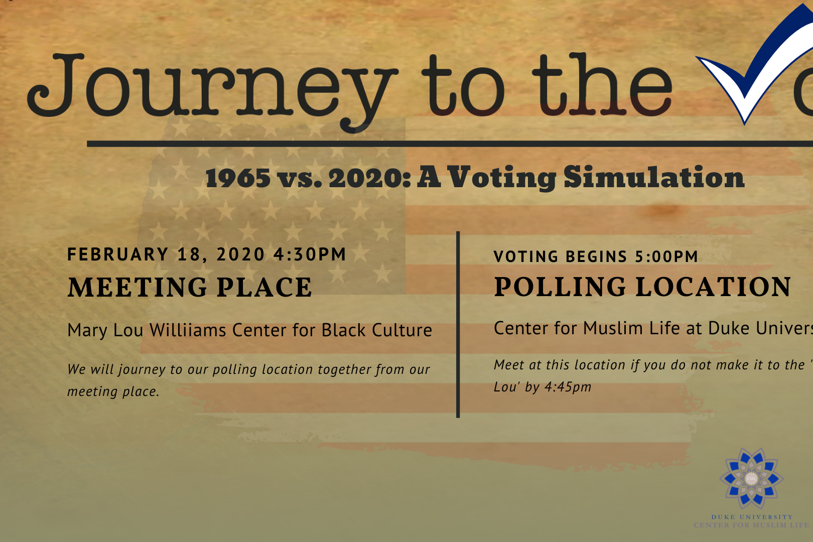 Journey to the Vote: 1965 vs 2020 voter simulation