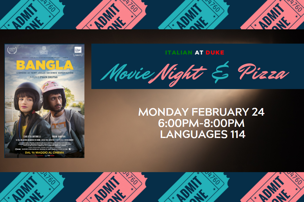 Movie Night and Pizza Presented by Italian At Duke
