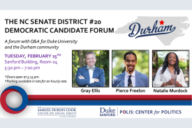 3 candidates for the NC Senate District #20 - candidate forum