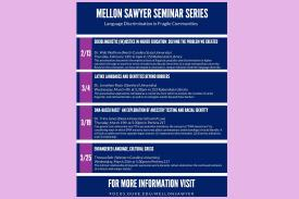 Mellon Sawyer Series spring schedule