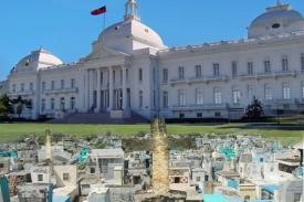 photo of Haitian presidential palace and graves