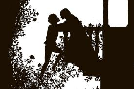Romeo and Juliet silhouette