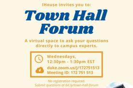 IHouse Town Hall Forum Flyer