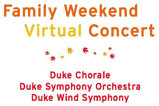 Family Weekend Virtual Concert