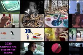 2020 Cinematic Arts Student Film Festival (collage of film stills)