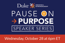 Pause on purpose speaker series wednesday october 28 at 6pm