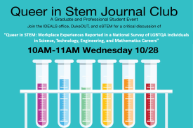 Queer in STEM Journal Club Oct 28th @ 10am