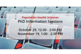 Population Health Sciences PhD Info Session
