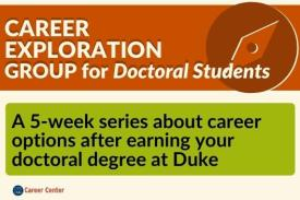 Career Exploration Group for Doctoral Students, a 5-week series