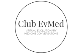 logo for Club EvMed: Virtual Evolutionary Medicine Conversations
