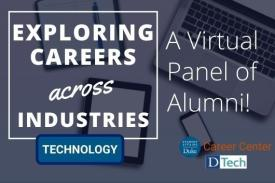 Flyer - Exploring Careers Across Industries. Technology. Featuring Duke Alumni.